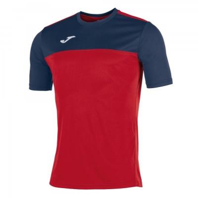 Футболка игровая Joma красная с темно-синими вставками WINNER 100946.603