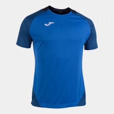 Футболка игровая Joma синяя с контрастными темно-синими вставками ESSENTIAL II 101508.703