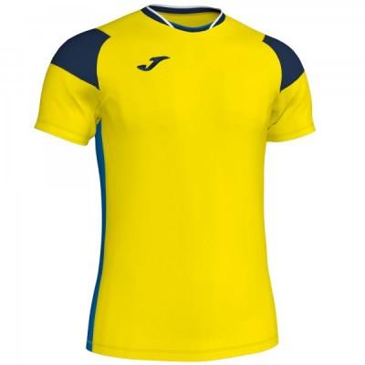 Футболка игровая Joma желтая с синими вставками модель CREW III 101269.907