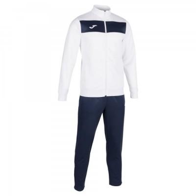 Спортивный костюм Joma ACADEMY II 101352.203 белый с темно-синими брюками