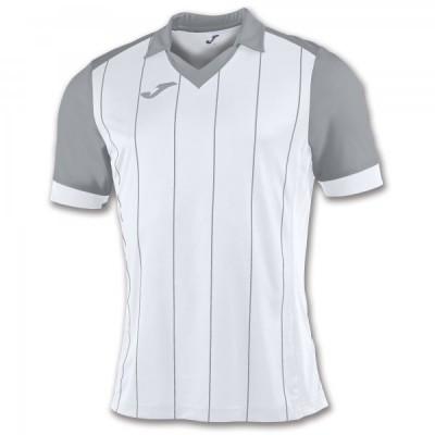 Футболка игровая Joma с белыми и серыми полосками GRADA 100680.200