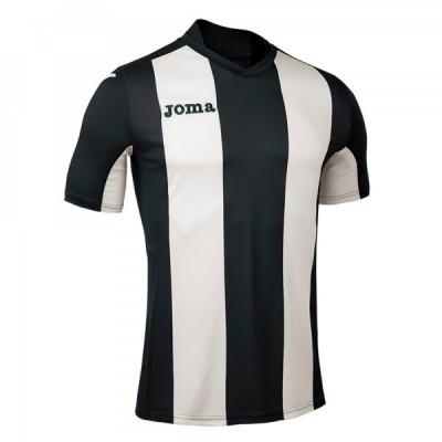 Футболка игровая Joma с белыми и черными полосками Pisa 100403.100