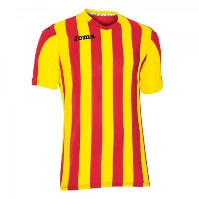 Футболка игровая Joma полоски красные и желтые COPA 100001.609