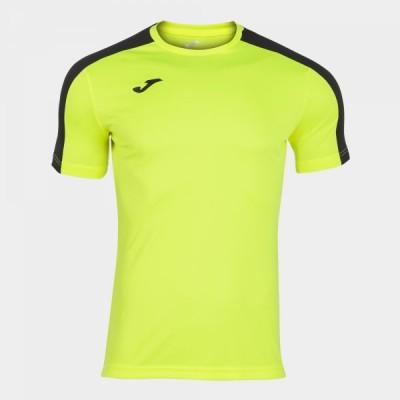Футболка игровая Joma лимонная с черными вставками ACADEMY 101656.061