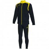 Спортивный костюм Joma CHAMPION V 101267.109 черная кофта с желтыми вставками и черные брюки