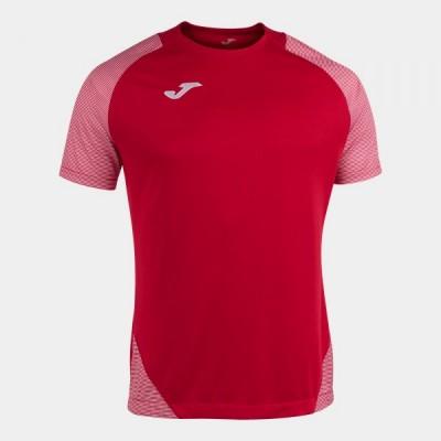 Футболка игровая Joma красная с контрастными белыми вставками ESSENTIAL II 101508.602