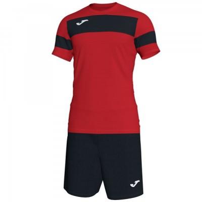 Комплект игровой Joma красная футболка с черными шортами, модель ACADEMY II 101349.601