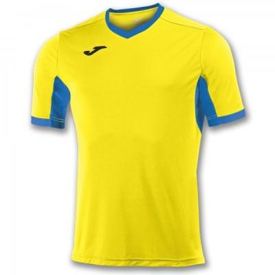 Футболка игровая Joma желтая с синими вставками CHAMPION IV 100683.907