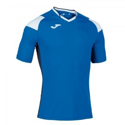 Футболка игровая Joma синяя с белыми вставками модель CREW III 101269.702