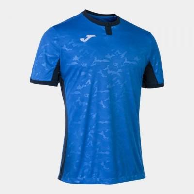 Футболка игровая Joma синяя с темно-синими вставками TOLETUM II 101476.703