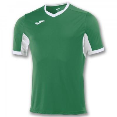 Футболка игровая Joma зеленая с белыми вставками CHAMPION IV 100683.452
