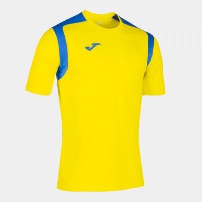 Футболка игровая Joma желтая с синими вставками CHAMPION V 101264.907