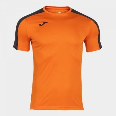 Футболка игровая Joma оранжевая с черными вставками ACADEMY 101656.881