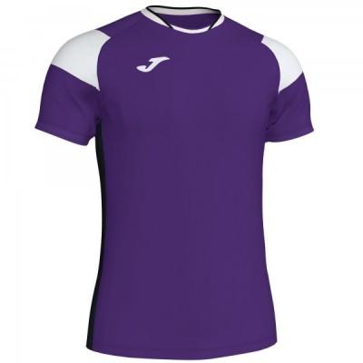 Футболка игровая Joma фиолетовая с белыми вставками модель CREW III 101269.552