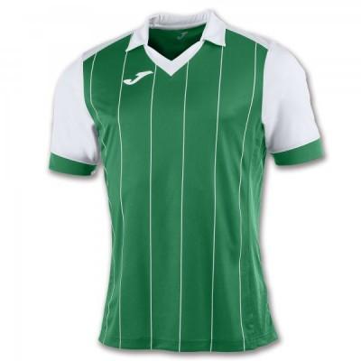 Футболка игровая Joma с зелеными и белыми полосками GRADA 100680.452