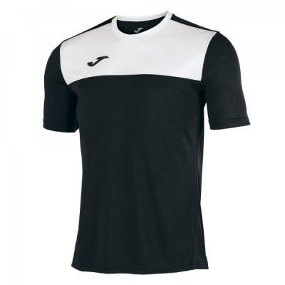 Футболка игровая Joma черная с белыми вставками WINNER 100946.102