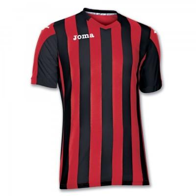 Футболка игровая Joma полоски красные и черные COPA 100001.601