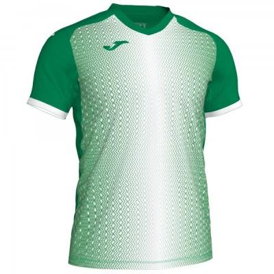 Футболка игровая Joma зеленая с белым SUPERNOVA 101284.452