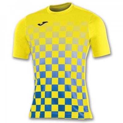 Футболка игровая Joma с рисунком в желтую и синюю клетку FLAG 100682.907