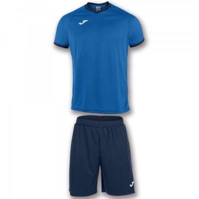 Комплект игровой Joma синяя футболка с темно-синими шортами, модель ACADEMY 101097.703
