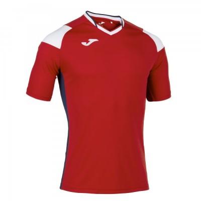Футболка игровая Joma красная с белыми вставками модель CREW III 101269.602