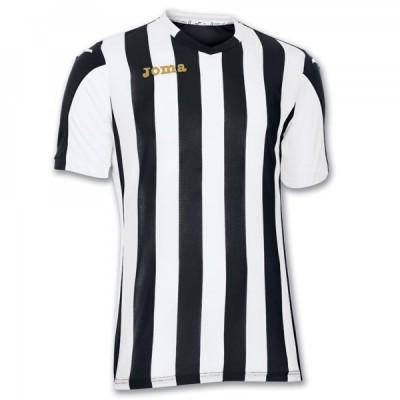 Футболка игровая Joma полоски черные и белые COPA 100001.100