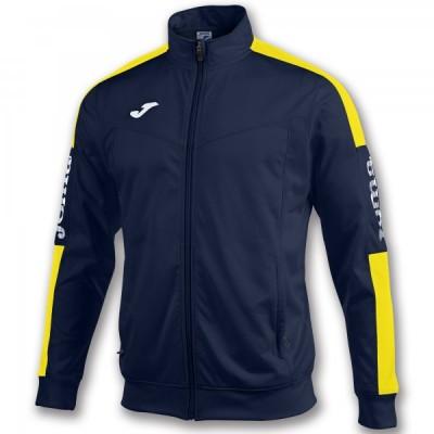 Спортивная кофта Joma CHAMPION IV 100687.309 темно-синяя с контрастными желтыми вставками