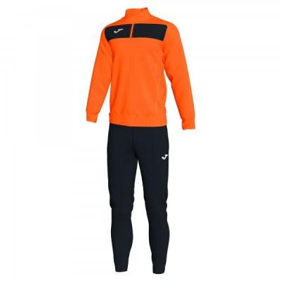 Спортивный костюм Joma ACADEMY II 101352.801 оранжевый с черными брюками