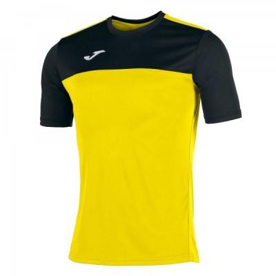 Футболка игровая Joma желтая с черными вставками WINNER 100946.901