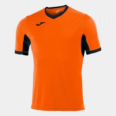 Футболка игровая Joma оранжевая с черными вставками CHAMPION IV 100683.801
