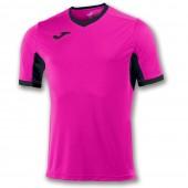 Футболка игровая Joma розовая с черными вставками CHAMPION IV 100683.031